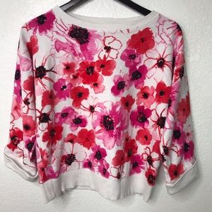 Jones New York   Sport Pink Floral Sweater
